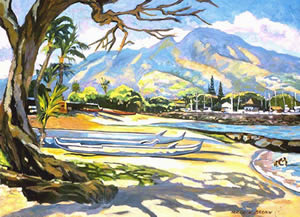 A Lazy Day In Hale'iwa by Mark Brown